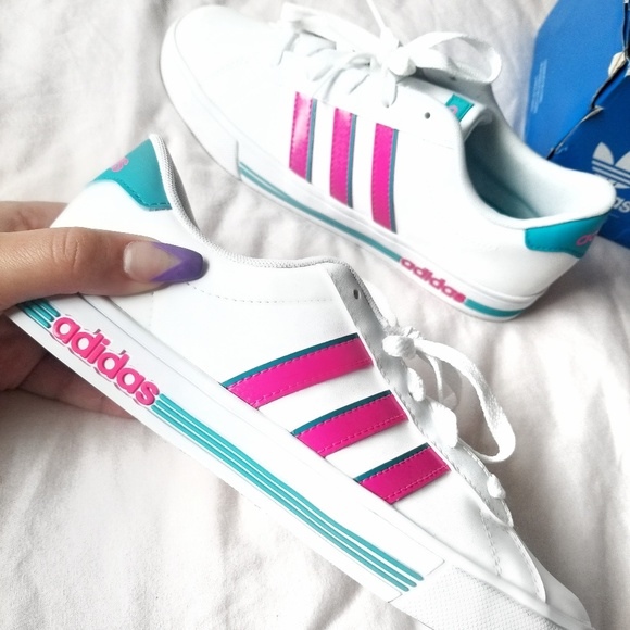 new product 2e169 1b0e1 ADIDAS Superstar Pink   Teal Shoes (Kids 5)